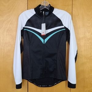 RBX comp long sleeve cycling jersey black and teal size medium